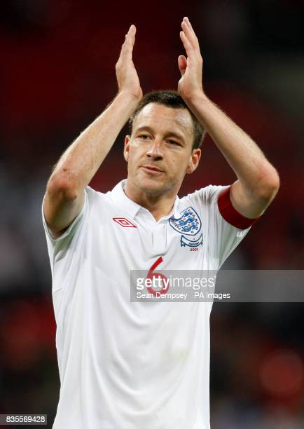 England's John Terry celebrates victory after the final whistle