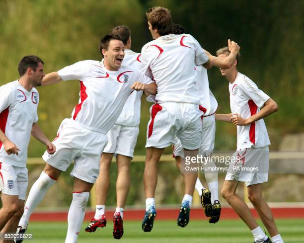 England's John Terry in action during a training session at Mittelbergstadion Buhlertal Germany Picture date Thursday June 29 2006 England play...