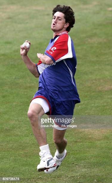 England's Jon Lewis in action during a practice session