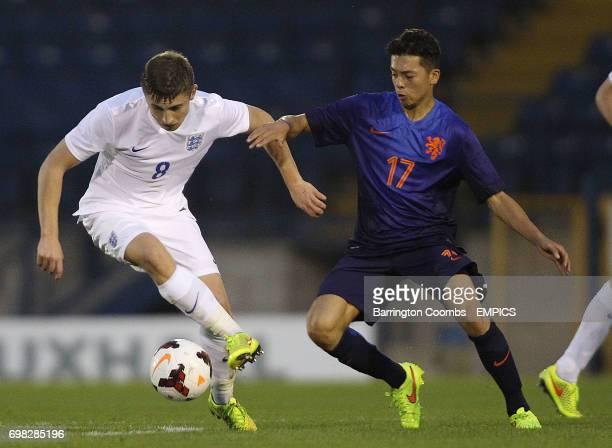 England's Jonjoe Kenny and Ilias Alhaft of The Netherlands'