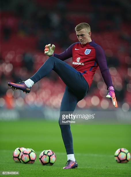 England's Jordan Pickford during FIFA World Cup Qualifying European Region Group F match between England and Scotland at Wembley stadium 11 Nov 2016