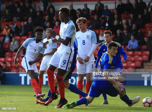 England's Joshua Onomah scores his side's third goal of the game