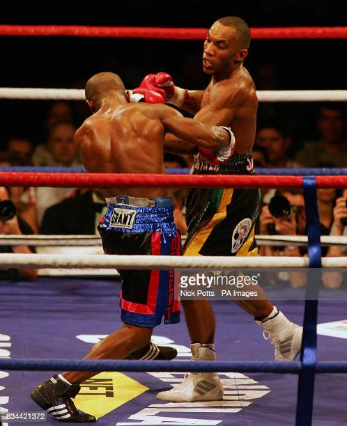 England's Junior Witter in action USA's Timothy Bradley during the WBC LightWelterweight Title bout at Nottingham Arena
