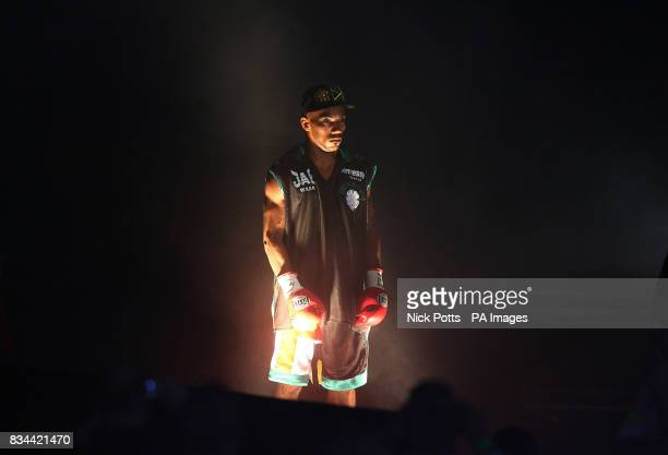 England's Junior Witter prepares to enter the ring for his bout against USA's Timothy Bradley in the WBC LightWelterweight Title bout at Nottingham...