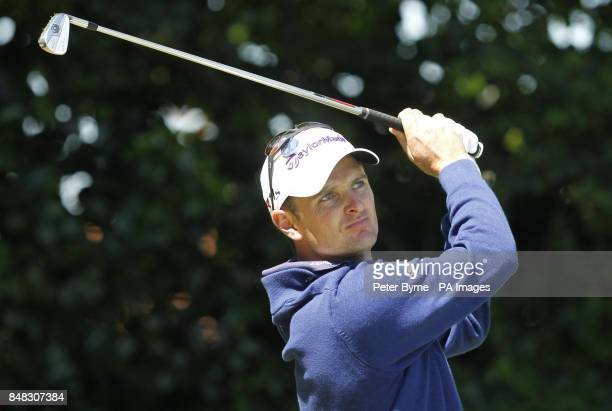 England's Justin Rose during the fourth practice day for the 2012 Open Championship at Royal Lytham St Annes Golf Club Lytham St Annes