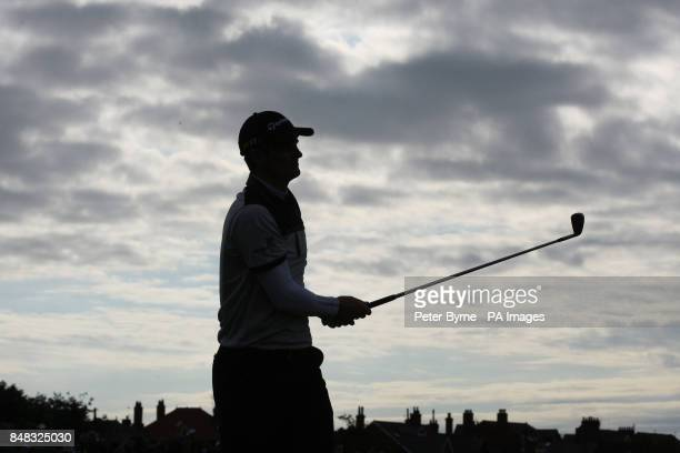 England's Justin Rose tees off the 16th during day two of the 2012 Open Championship at Royal Lytham St Annes Golf Club Lytham St Annes