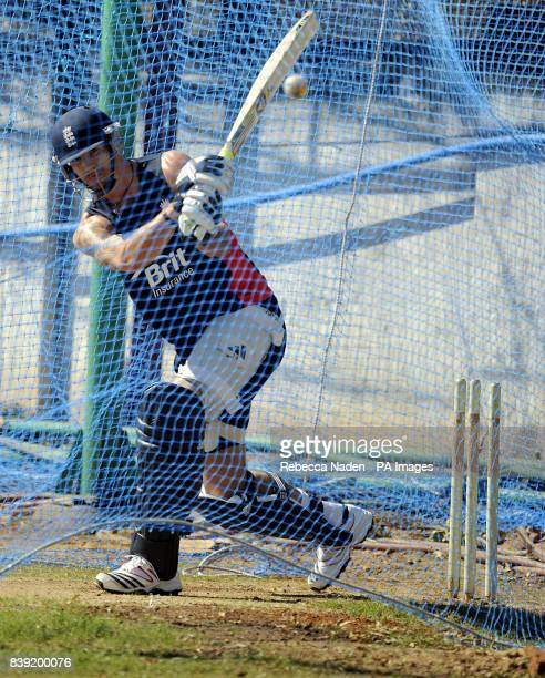 England's Kevin Pietersen during the nets session at the Chidambaram Stadium Chennai India