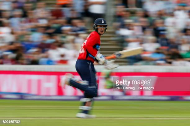 England's Liam Livingstone during the second NatWest T20 Blast match at the Cooper Associates County Ground Taunton