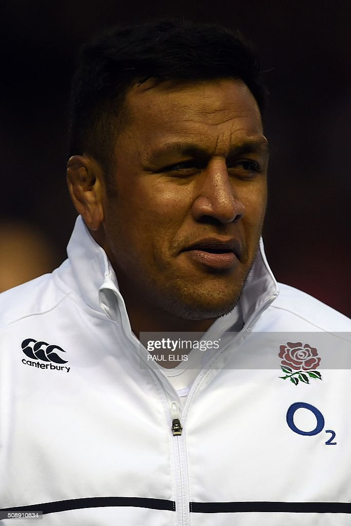 England's Mako Vunipola sings the national anthem ahead of the Six Nations international rugby union match between Scotland and England at Murrayfield in Edinburgh, Scotland on Febuary 6, 2016. England won the match 15-9. / AFP / PAUL ELLIS