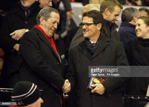 England's manager Fabio Capello in the stands