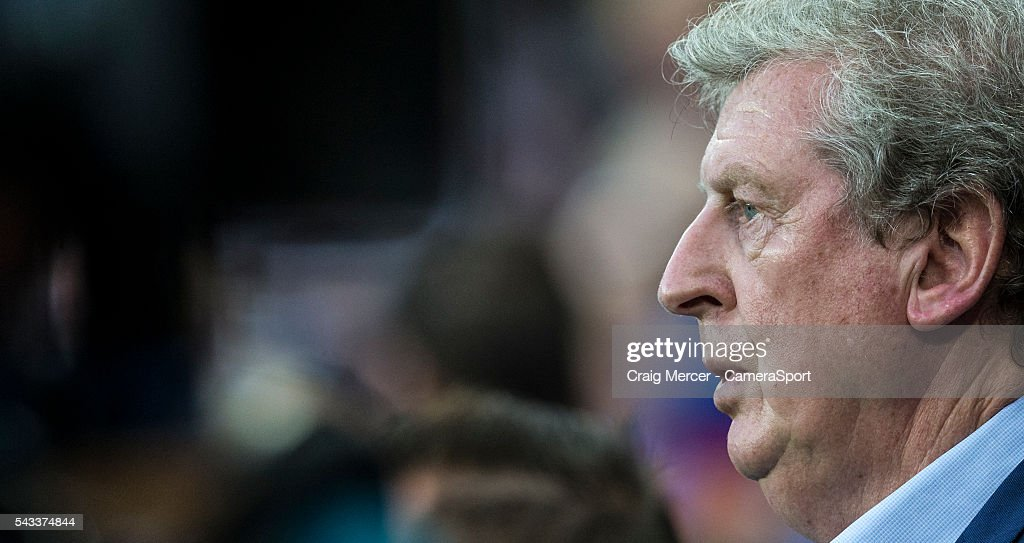 England's Manager <a gi-track='captionPersonalityLinkClicked' href=/galleries/search?phrase=Roy+Hodgson&family=editorial&specificpeople=881703 ng-click='$event.stopPropagation()'>Roy Hodgson</a> during the UEFA Euro 2016 Round of 16 match between England and Iceland at Allianz Riviera Stadium on June 27 in Nice, France.