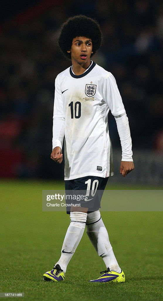 England's Marcus Edwards during the Victory Shield match between England U16 and Northern Ireland U16 at Goldsands Stadium on November 08, 2013 in London, England.