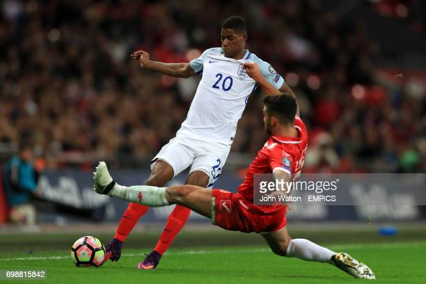 England's Marcus Rashford in action