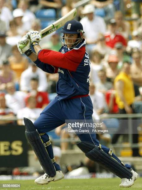 England's Marcus Trescothick hits four runs during the One Day International match against Sri Lanka at Headingley Leeds
