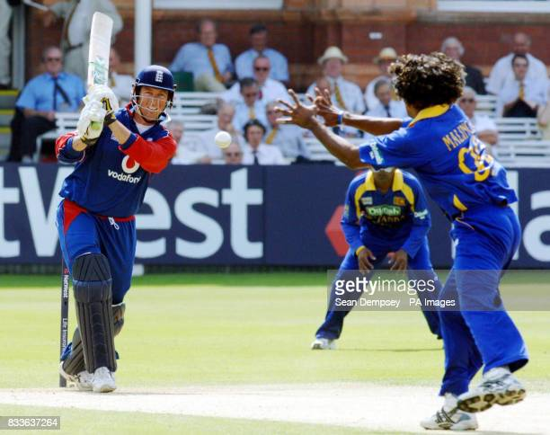 England's Marcus Trescothick in action during the NatWest Series OneDay International match against Sri Lanka at Lord's London