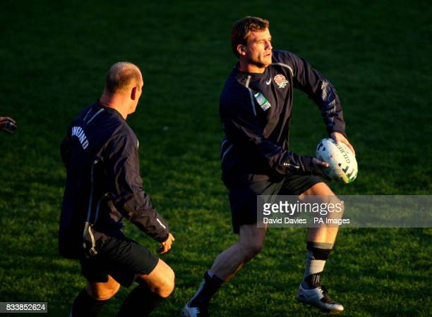 England's Mark Cueto during a training session at Stade de Courbevoie Paris France