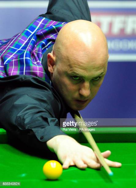 England's Mark King in action against England's Rory McLeod during the Betfredcom World Snooker Championship at The Crucible Theatre Sheffield