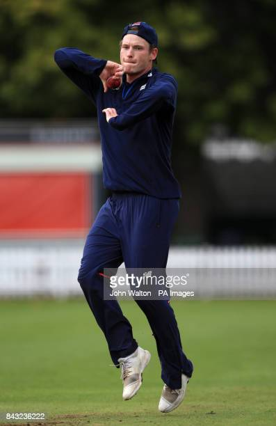 England's Mason Crane during the nets session at Lords London