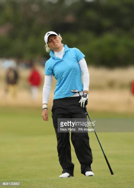 England's Melissa Reid shows her dejection after her 2nd shot on the 17th fairway during the Women's British Open at Royal Lytham and St Anne's Golf...