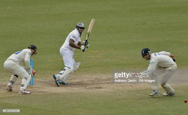 England's Michael Carberry hits a shot past Ryan Carters during an international match at the Sydney Cricket Ground Sydney