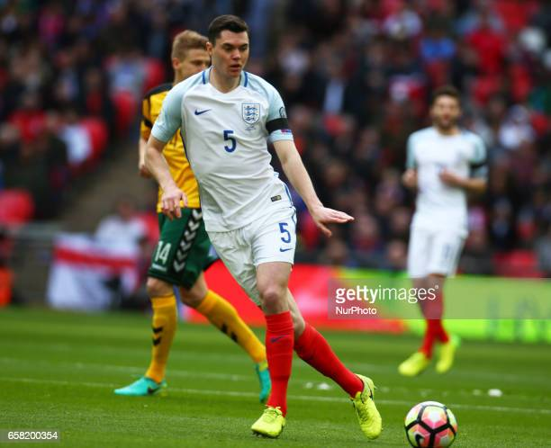 England's Micheal Keane during FIFA World Cup Qualfying European Group F match between England against Lithuania at Wembley Stadium London 26 March...