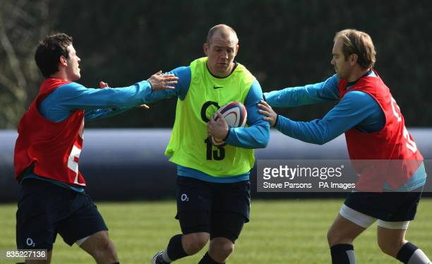 England's Mike Tindall during a training session at Pennyhill Park Surrey