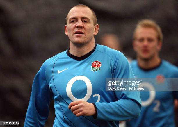 England's Mike Tindall during the training session at the Madjeski Stadium Dome Reading