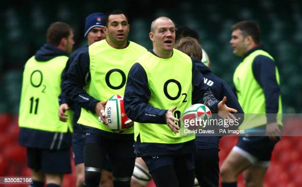 England's Mike Tindall during the training session at the Millennium Stadium Cardiff
