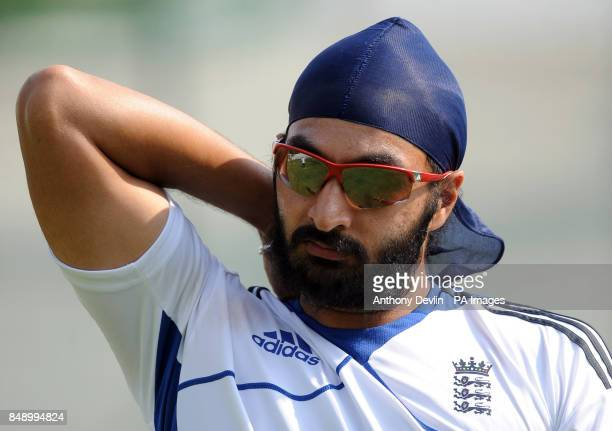 England's Monty Panesar during a nets practice session at the Sardar Patel Stadium Ahmedabad India