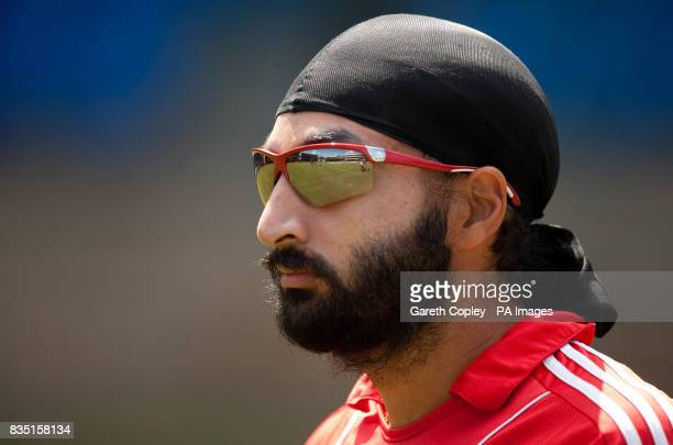 England's Monty Panesar during a nets session at St Marys Sports Ground Port of Spain Trinidad