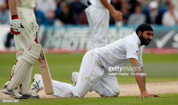 England's Monty Panesar during day two of the first npower Test match at Sophia Gardens Cardiff