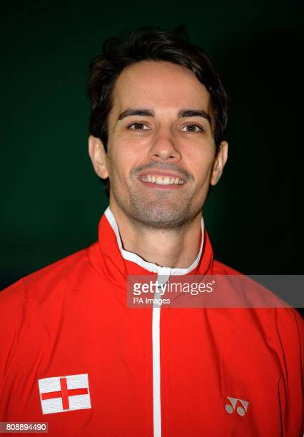 England's Nathan Robertson during a photocall at the National Badminton Centre Milton Keynes