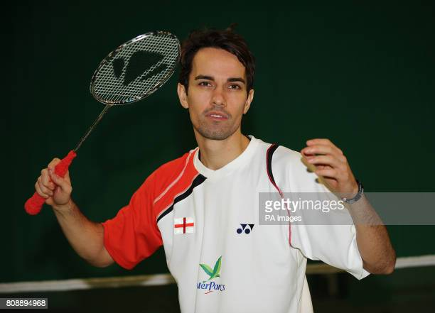 England's Nathan Robertson during a photocall at the National Badminton Centre Milton Keynes