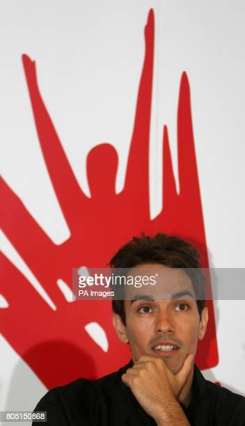 England's Nathan Robertson during a press conference at the National Badminton Centre Milton Keynes