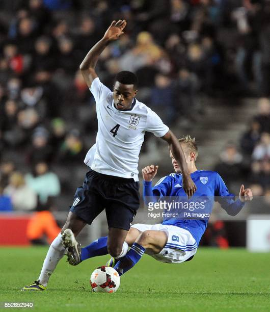 England's Nathaniel Chalobah and Finland's Kalle Kauppi battle for the ball