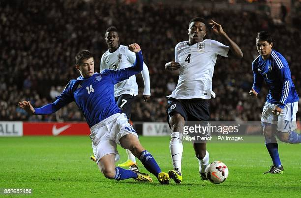 England's Nathaniel Chalobah in action with Finland's Daniel O'Shaughnessy