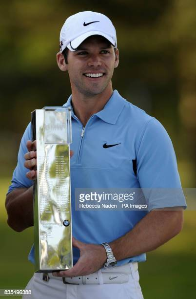 England's Paul Casey poses with the trophy after winning the BMW PGA Championship at Wentworth Golf Club Surrey