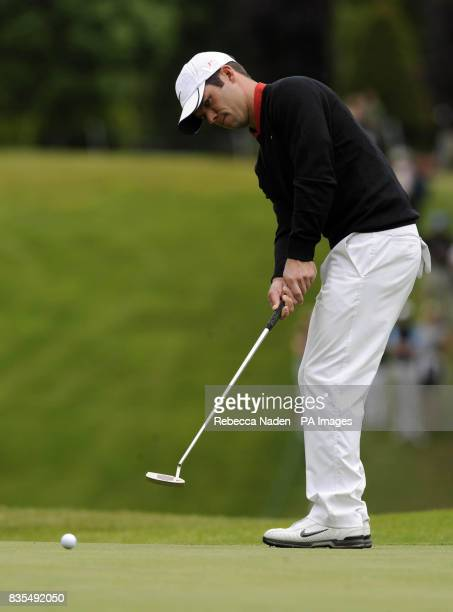 England's Paul Casey putts on the 1st green during Round 3 of the BMW PGA Championship at Wentworth Golf Club Surrey