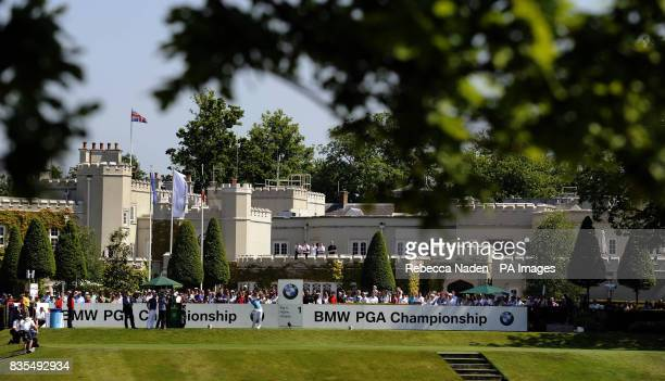 England's Paul Casey tees off the 1st hole during Round 4 of the BMW PGA Championship at Wentworth Golf Club Surrey