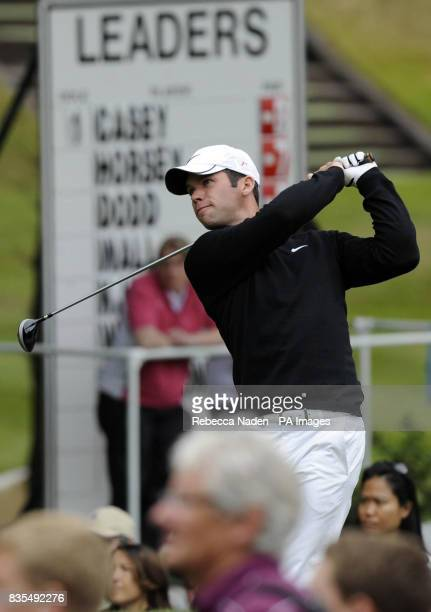 England's Paul Casey tees off the 3rd hole during Round 3 of the BMW PGA Championship at Wentworth Golf Club Surrey