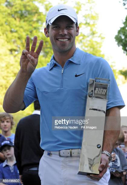 England's Paul Casey who is now number 3 in the world after winning the BMW PGA Championship at Wentworth Golf Club Surrey