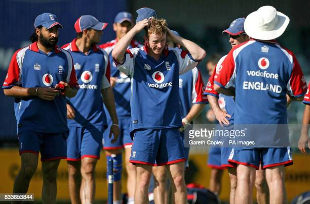 England's Paul Collingwood during a nets session at the WACA Perth Australia