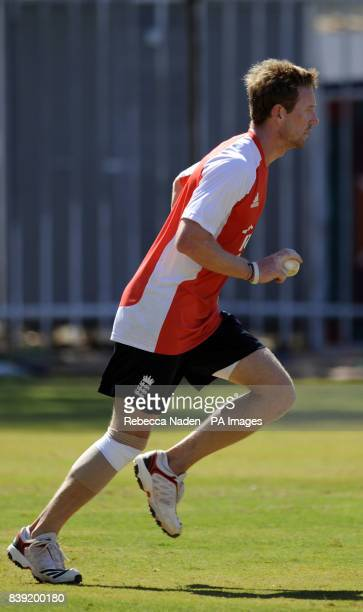 England's Paul Collingwood during the nets session at the Chidambaram Stadium Chennai India