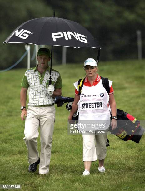 England's Paul Streeter with his caddie during Round Two of the BMW PGA Championship at Wentworth Golf Club Surrey