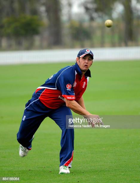 England's Phil Mustard during fielding practice at Lincoln University Lincoln New Zealand