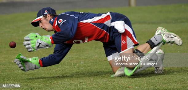 England's Phil Mustard during practice at Nelson Park Napier New Zealand