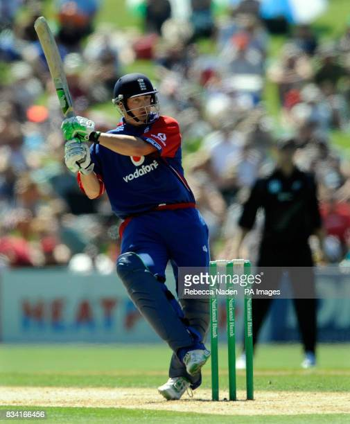 England's Phil Mustard during the Fourth One Day International match at McLean Park Napier New Zealand