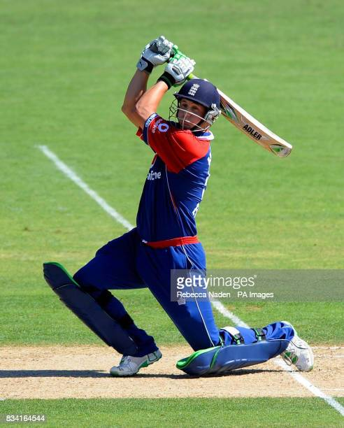 England's Phil Mustard in action during the Fourth One Day International match at McLean Park Napier New Zealand