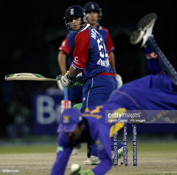 England's Phil Mustard is caught out by Sri Lanka's Kumar Sangakkara during the Fifth One Day International at R Premadasa Stadium Colombo Sri Lanka