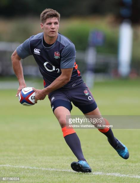 England's Piers Francis during the training session at the Lensbury Hotel London